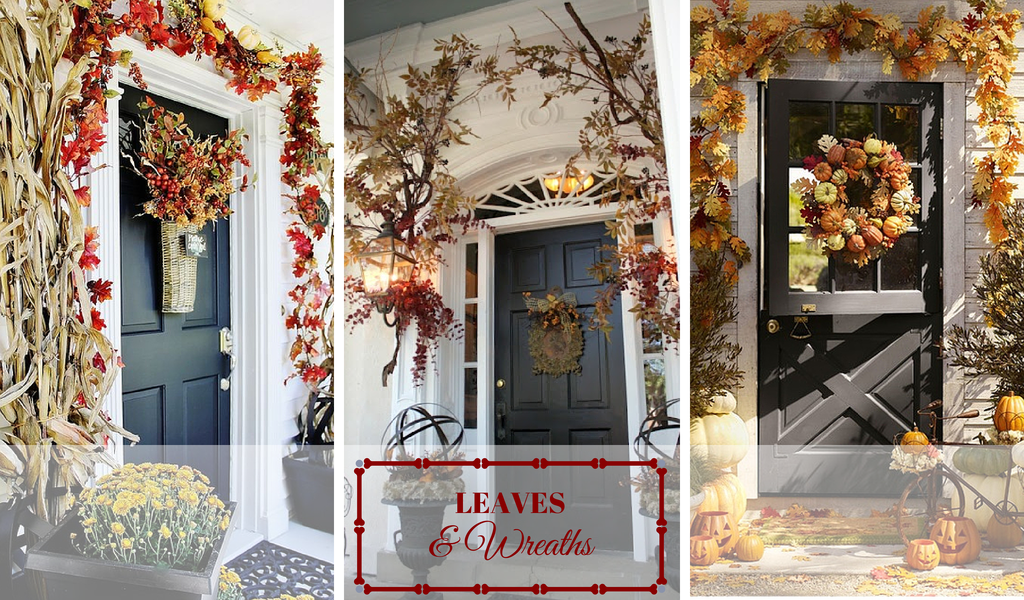 Front Door Ideas - Leaves & Wreaths